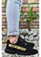 Riccon Haki Erkek Cilt Sneaker 0012Santo Siyah